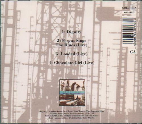 "Deacon Blue Dignity CD single (CD5 / 5"") UK DBLC5DI65798"