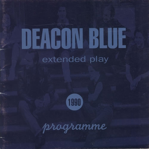 Deacon Blue Extended Play tour programme UK DBLTREX294427