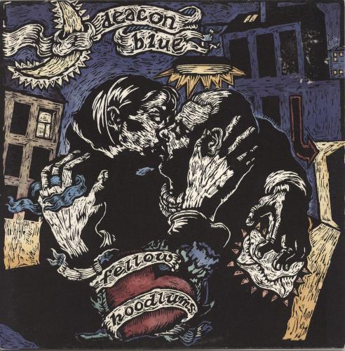 Deacon Blue Fellow Hoodlums + Booklet - EX vinyl LP album (LP record) UK DBLLPFE767027