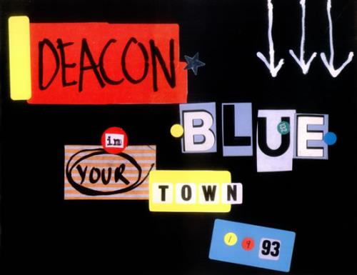Deacon Blue In Your Town 1993 tour programme UK DBLTRIN532681
