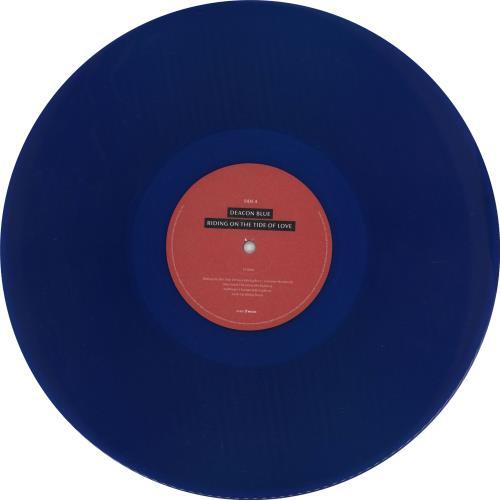 Deacon Blue Riding On The Tide Of Love - Blue Vinyl + Signed Print vinyl LP album (LP record) UK DBLLPRI766314