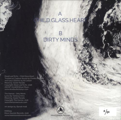"""Dead Leaf Echo Child.Glass.Heart / Dirty Minds - Numbered 7"""" vinyl single (7 inch record) US Z0C07CH722188"""