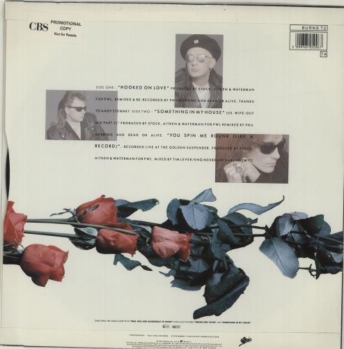 "Dead Or Alive Hooked On Love 12"" vinyl single (12 inch record / Maxi-single) UK DOA12HO678846"