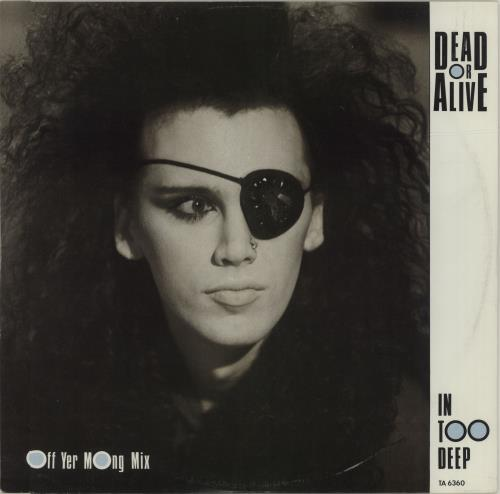 "Dead Or Alive In Too Deep - Gold Promo Stamped 12"" vinyl single (12 inch record / Maxi-single) UK DOA12IN678848"