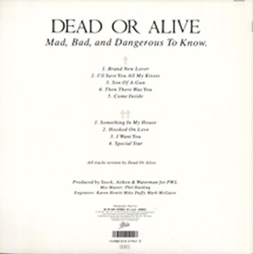 Dead Or Alive Mad Bad And Dangerous To Know picture disc LP (vinyl picture disc album) Japanese DOAPDMA215851