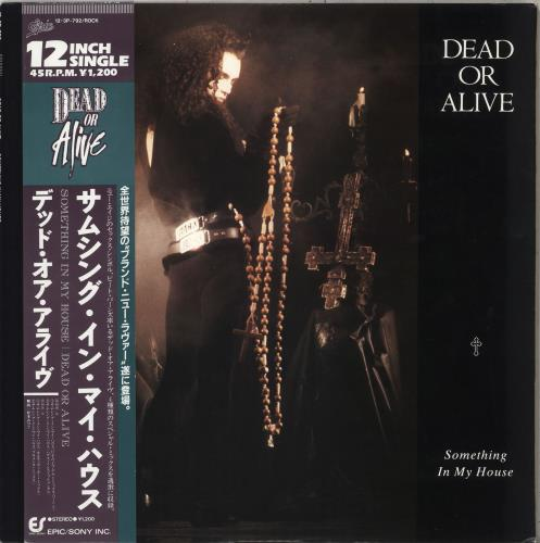 "Dead Or Alive Something In My House 12"" vinyl single (12 inch record / Maxi-single) Japanese DOA12SO95640"