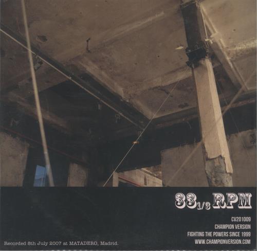 "Dead Rat Orchestra Matadero - Clear Vinyl 10"" vinyl single (10"" record) UK 1EZ10MA744974"