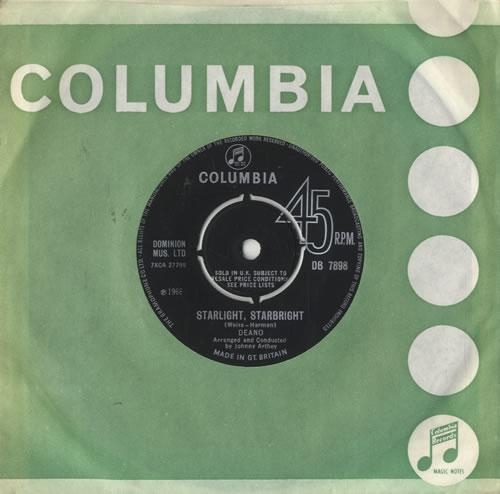 "Deano Starlight, Starbright 7"" vinyl single (7 inch record) UK DQQ07ST478620"