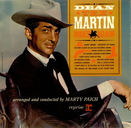 Dean Martin Dean 'Tex' Martin Rides Again vinyl LP album (LP record) UK 1DMLPDE457257