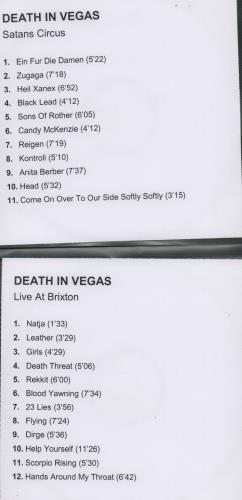 Death In Vegas Satans Circus + Live At Brixton CD-R acetate UK DEACRSA306163
