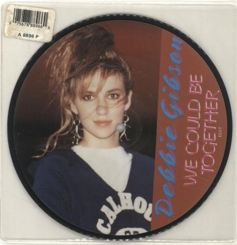 """Debbie Gibson We Could Be Together 7"""" vinyl picture disc 7 inch picture disc single UK GIB7PWE24540"""