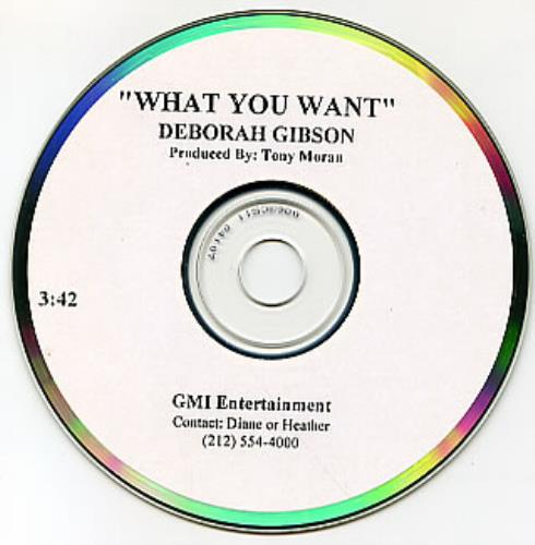 Debbie Gibson What You Want CD-R acetate US GIBCRWH212154