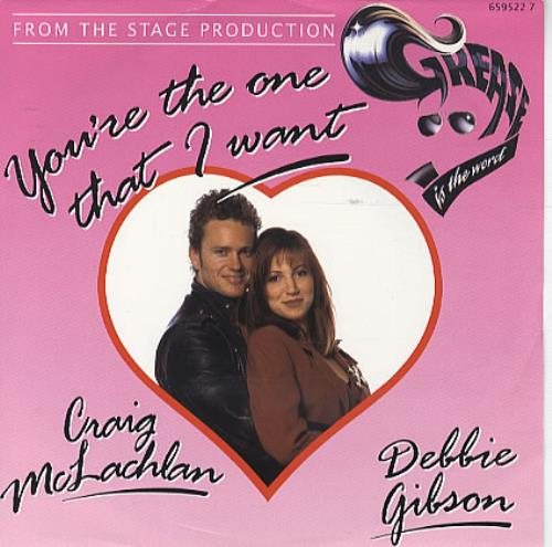 "Debbie Gibson You're The One That I Want 7"" vinyl single (7 inch record) UK GIB07YO105589"