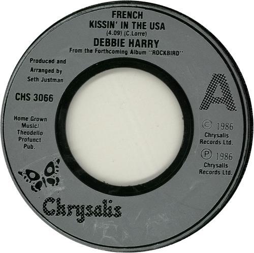 "Debbie Harry French Kissin' In The USA - Jukebox 7"" vinyl single (7 inch record) UK DEB07FR578656"