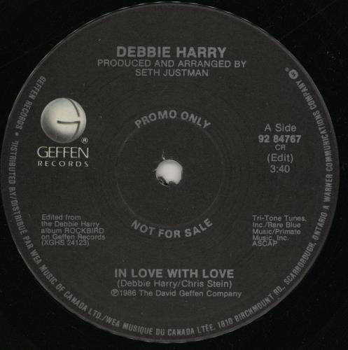 "Debbie Harry In Love With Love 7"" vinyl single (7 inch record) Canadian DEB07IN759362"
