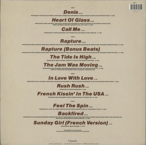 Debbie Harry Once More Into The Bleach 2-LP vinyl record set (Double Album) UK DEB2LON763716
