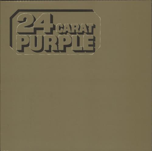 Deep Purple 24 Carat Purple vinyl LP album (LP record) German DEELPCA751497