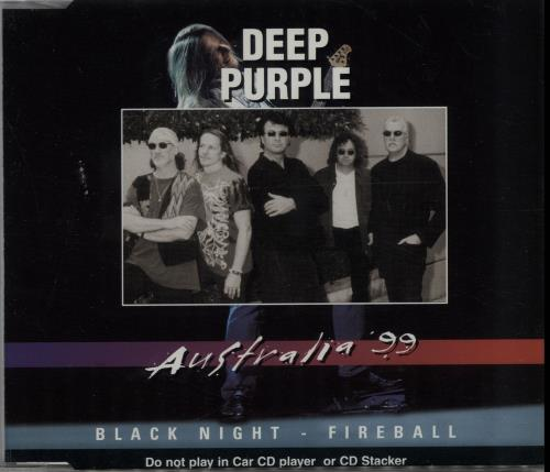 "Deep Purple Black Night - Australia '99 CD single (CD5 / 5"") Australian DEEC5BL158159"