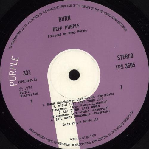 Deep Purple Burn - 1st - EX vinyl LP album (LP record) UK DEELPBU705571