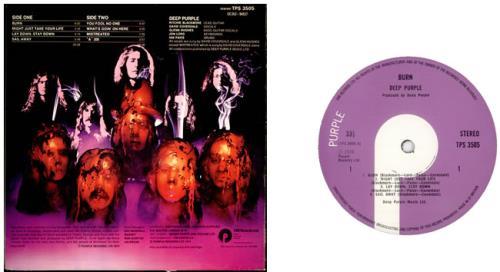Deep Purple Burn 1st Uk Vinyl Lp Album Lp Record 91907