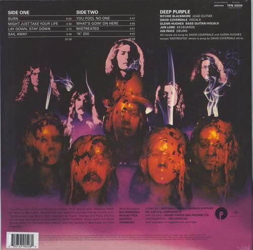 Deep Purple Burn - Orange Vinyl - Sealed vinyl LP album (LP record) UK DEELPBU774777