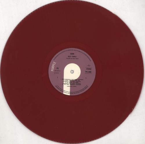 Deep Purple Burn - Purple Vinyl - Stickered Shrink vinyl LP album (LP record) UK DEELPBU739874