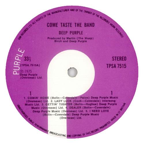Deep Purple Come Taste The Band - 1st + Inner vinyl LP album (LP record) UK DEELPCO582044