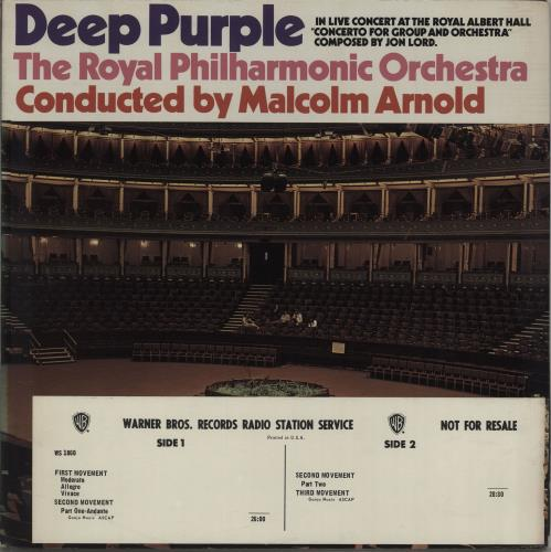 Deep Purple Concerto For Group And Orchestra - Timing Strip vinyl LP album (LP record) US DEELPCO74635