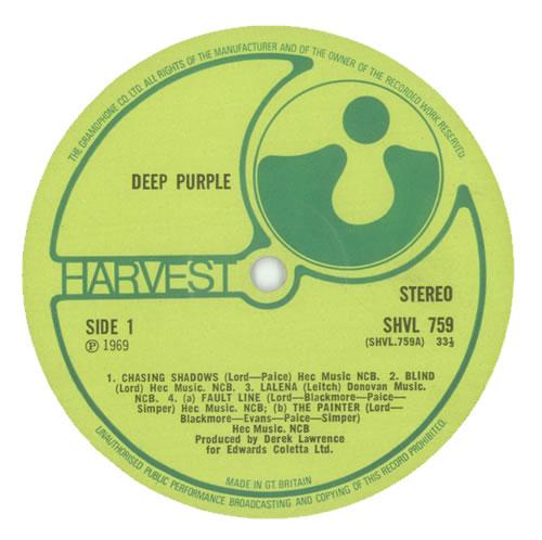 Deep Purple Deep Purple - 1st - EX vinyl LP album (LP record) UK DEELPDE95898