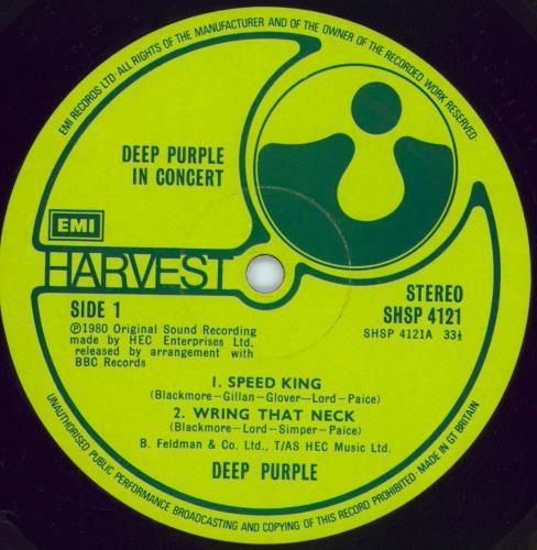 Deep Purple Deep Purple In Concert - EX 2-LP vinyl record set (Double Album) UK DEE2LDE772755
