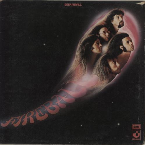 Deep Purple Fireball - 1st + Insert - VG vinyl LP album (LP record) UK DEELPFI614355