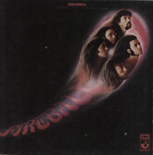 Deep Purple Fireball - 1st + Insert - VG/EX vinyl LP album (LP record) UK DEELPFI755438