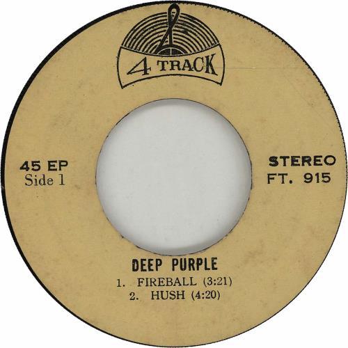 "Deep Purple Fireball EP 7"" vinyl single (7 inch record) Thailand DEE07FI672452"