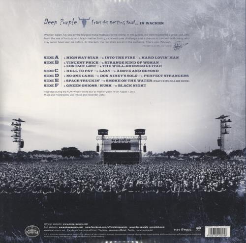 Deep Purple From The Setting Sun... (In Wacken) 3-LP vinyl record set (Triple Album) German DEE3LFR773902