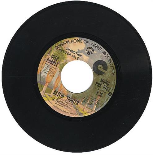 "Deep Purple Gettin' Tighter 7"" vinyl single (7 inch record) US DEE07GE147843"