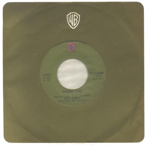 "Deep Purple Highway Star - 1st 7"" vinyl single (7 inch record) Japanese DEE07HI508910"
