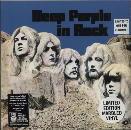Deep Purple In Rock - 180gm - Grey - Sealed vinyl LP album (LP record) UK DEELPIN656981