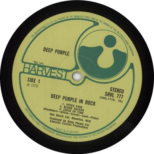 Deep Purple In Rock - 1st - EX WOL vinyl LP album (LP record) UK DEELPIN737995