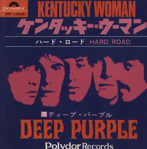 "Deep Purple Kentucky Woman 7"" vinyl single (7 inch record) Japanese DEE07KE364301"