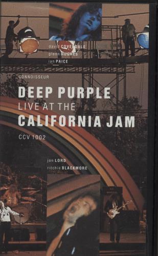 Deep Purple Live At The California Jam video (VHS or PAL or NTSC) UK DEEVILI763324