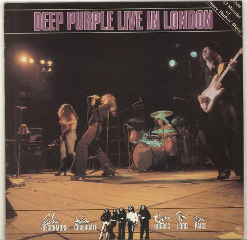 Deep Purple Live In London + inner vinyl LP album (LP record) UK DEELPLI702200