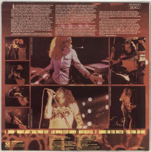 Deep Purple Live In London vinyl LP album (LP record) Greek DEELPLI715896