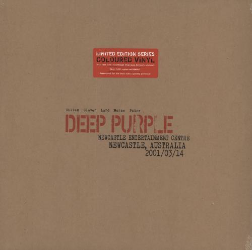 Deep Purple Live In Newcastle 2001 - Red Vinyl - Sealed 3-LP vinyl record set (Triple Album) UK DEE3LLI725458