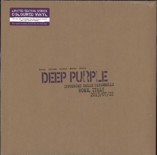 Deep Purple Live In Rome 2013 - Coloured Vinyl - Sealed 3-LP vinyl record set (Triple Album) UK DEE3LLI736150