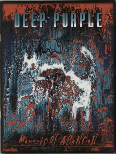 Deep Purple Moments Of Abandon tour programme UK DEETRMO140507