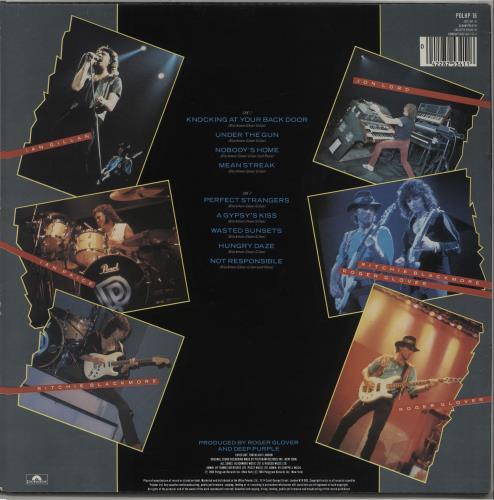 Deep Purple Perfect Strangers - Hype Stickered picture disc LP (vinyl picture disc album) UK DEEPDPE106315
