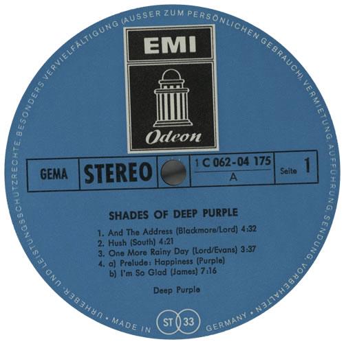 Deep Purple Shades Of Deep Purple - VG vinyl LP album (LP record) German DEELPSH578436
