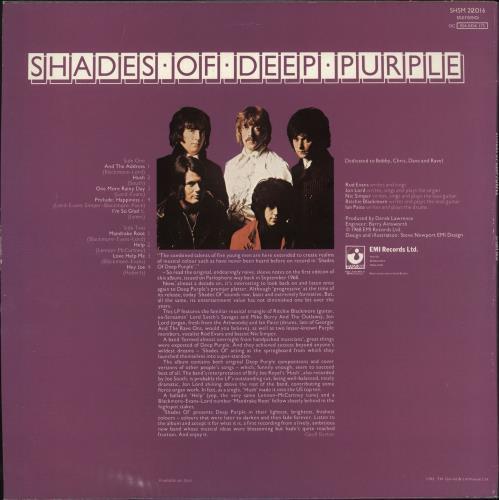 Deep Purple Shades Of Deep Purple vinyl LP album (LP record) UK DEELPSH739459