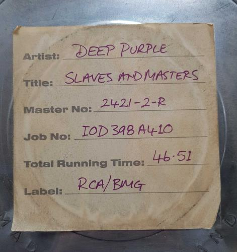 Deep Purple Slaves And Masters - Film Can CD Single Box Set UK DEECXSL711232