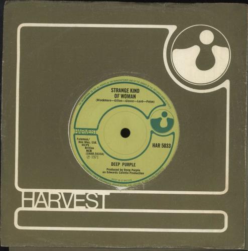 "Deep Purple Strange Kind Of Woman 7"" vinyl single (7 inch record) UK DEE07ST64677"